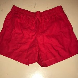 Jcrew Red Shorts